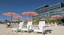 Sugar Beach yields an impressionistic landscape rarely attempted in the hard-edged cities of North America. (Sarah Dea/The Globe and Mail/Sarah Dea/The Globe and Mail)