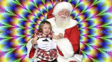 Craig Fleming photo: Sophia meets Santa - Sophia is scared by Santa's background - which is different than how I remember as a child - things sure have changed (Craig Fleming/Craig Fleming)