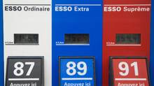 Gas prices are shown at an Esso station in Montreal, Wednesday, April 4 , 2012. Rising prices are starting to pinch the economy as a whole. (Graham Hughes for The Globe and Mail/Graham Hughes for The Globe and Mail)