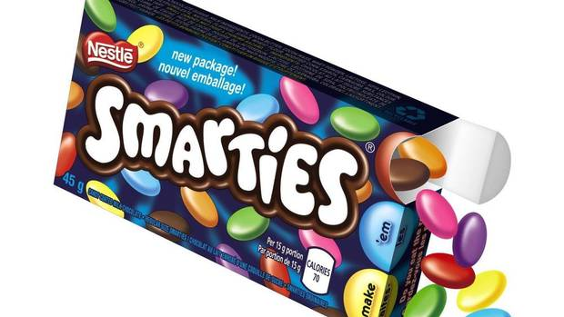 Save the red ones for later: Nestlé Canada rolls out ... Smarties Box Design