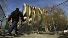 Exterior of apartment buildings on Teesdale Avenue in Scarborough. (Fred Lum/The Globe and Mail/Fred Lum/The Globe and Mail)