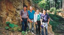 John Felderhof (second from left) is shown in this 1996 file photo taken at Bre-X Minerals' Busang project site in Kalimantan, Indonesia. Felderhof is shown with (left - right) Jerry Alo, project metallurgist; Michael De Guzman, exploration manager; Cesar Puspos, geologist. (Vivian Danielson - The Northern Miner/THE CANADIAN PRESS)