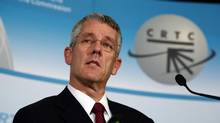 October18, 2012: CRTC chairman Jean Pierre Blais comments on the ruling of BCE - Astral deal during a new conference in Gatineau, Quebec. (Dave Chan/Globe and Mail)