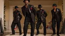 From left, Taye Diggs, Morris Chestnut, Harold Perrineau and Terrence Howard in a scene from The Best Man Holiday. (Michael Gibson/AP)