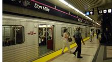 The Sheppard subway line's Don Mills Station. (Fred Lum/Fred Lum/The Globe and Mail)