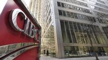 The CIBC sign outside the bank's head office in downtown Toronto. (Fred Lum/Fred Lum/The Globe and Mail)
