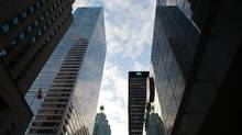 Toronto's financial district is seen in this file photo. (Galit Rodan For The Globe and Mail)