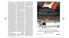 Every advertisement in the next issue of The New Yorker magazine has been taken out by a Canadian government, business, or institution. (The New Yorker)