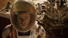 Matt Damon portrays an astronaut who draws upon his ingenuity to subsist on Mars after he is left behind. (Courtesy Twentieth)