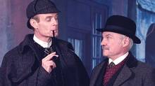 """Matt Frewer as Sherlock Holmes and Kenneth Welsh as Dr. Watson in """"The Sign of Four"""" (CTV)"""