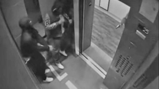 Security footage of altercation prior to kidnapping.