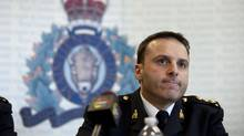 CMP Assistant Commissioner James Malizia answers questions at a press conference April 22, 2013 in Toronto. The RCMP arrested two individuals and charged them with conspiring to carry out a terrorist attack against a VIA passenger train. (Moe Doiron/The Globe and Mail)