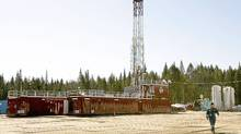 A Talisman shale gas drillng rig. A U.S. panel says opposition to fracking will grow unless more environmental control is asserted. THE CANADIAN PRESS/Jacques Boissinot (Jacques Boissinot/THE CANADIAN PRESS)