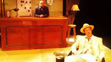 "Michael Kash (foreground) as Erie Smith and Laurence Dean Ifill as Charlie Hughes in ""Hughie"""