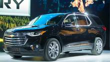 Chevrolet introduces the new Traverse High Country during a press conference at the 2017 North American International Auto Show in Detroit. (GEOFF ROBINS/AFP/Getty Images)