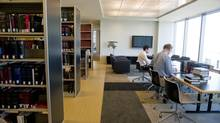 Heenan Blaikie LLP's 25th-floor research area at its Toronto office. (Sarah Dea/The Globe and Mail)
