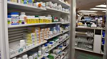 A shelf of drugs at a pharmacy. (Jacques Boissinot/Jacques Boissinot/The Canadian Press)