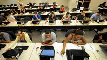 Postsecondary students are focused on the job market. (STEVE JOHNSON/NYT)