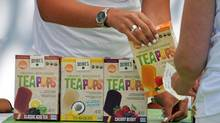 TeaPops are the first certified Non-GMO, organic, kosher, vegan, tea-based treats that are gluten, dairy, nut, and soy free. (DeeBee's SpecialTea Foods Ltd.)