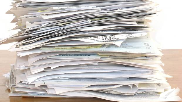 Image result for piles of forms and letters