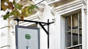 London's Orange Public House has Provençal-inspired decor.
