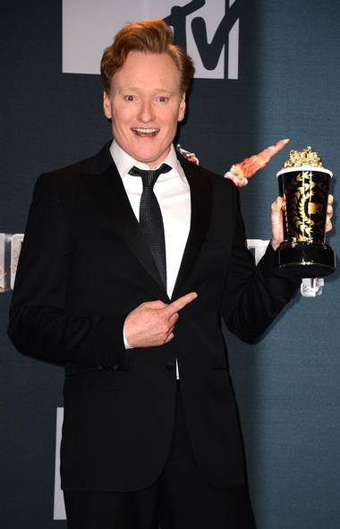 Be still my heart. The week kicked off with the MTV Movie Awards, a pointless popularity contest fittingly hosted by the oleaginous Conan O'Brien. Not surprisingly, Coco availed himself of all the opportunities that come with hosting a cable awards show (Jordan Strauss/Jordan Strauss/Invision/AP)