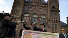 A group of Toronto educators gathered outside of Queen's Park in Toronto, Ont., in October to voice their objections against Bill 115 and the proroguing of the legislature. (Peter Power/The Globe and Mail)