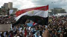 Thousands gather at Cairo's Tahrir Square on Feb. 10, 2011 PEDRO UGARTE/AFP/Getty Images