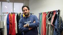 Adam Bledin is the founder Lazypants, a popular sweatpants brand based in Toronto (Katherine Scarrow/The Globe and Mail)