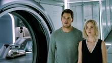 Chris Pratt and Jennifer Lawrence star in Columbia Pictures' Passengers. (Courtesy of Sony Pictures)