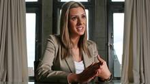 Rookie NDP MP Ruth Ellen Brosseau gives an interview on Parliament Hill on May 20, 2011. (Dave Chan/Dave Chan for The Globe and Mail)