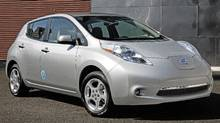 2011 Nissan Leaf is the only all-electric car on the market. (Nissan)