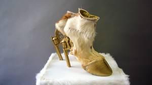 Among the recent fashion designs incorporating animal parts are German artist Iris Schieferstein's high-heeled Gun Hoofs.