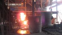 Making nickel pig iron at a plant in in Huaibei, China. (Andy Hoffman/The Globe and Mail)