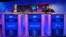 Former JEOPARDY! Champion contenstants during the final day of sparring sessions against Watson, at IBM TJ Watson Research Center, Yorktown Heights, NY.
