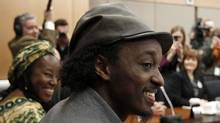 Singer K'naan takes part in a New Democratic Party caucus meeting in Ottawa March 9, 2011. (CHRIS WATTIE/REUTERS)