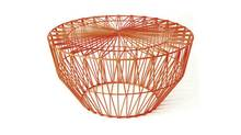 L.A.-based Bend's stark geometric side tables combine simple wire forms with super-bright hues.