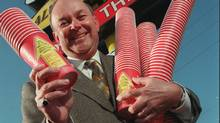 "Ron Buist, director of marketing services, who developed the ""roll up the rim to win"" campaign. (Peter Tym/The Globe and Mail)"