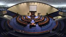 The council chamber at Toronto City Hall is a quiet place – when it's empty. Council voted this week to add three more seats to address the city's population growth. (Fred Lum/The Globe and Mail)