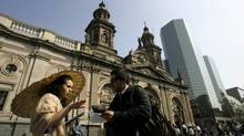 Explore the old and the new in Santiago. (Victor Ruiz Caballero/REUTERS)