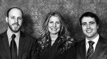 Richard Vining, Jessica Kerr and David Gustavson are the founders of Duty-Back, a Victoria-based startup that aims to help online shoppers reclaim the duty paid on cross-boarder returns (Duty-Back Refund Solutions Inc)