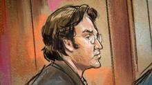 Syrian-born U.S. citizen Mohamad Anas Haitham Soueid appears in Federal Court in Alexandria, VA in a courtroom sketch, October 11, 2011. (REUTERS/William Hennessy/REUTERS/William Hennessy)