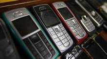Nokia mobile phones are pictured inside a mobile phone repair service store in the western Austrian city of Innsbruck October 16, 2012. (DOMINIC EBENBICHLER/REUTERS)