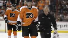 Philadelphia Flyers' Sean Couturier is seen during an NHL game against the Boston Bruins, Saturday, Dec. 17, 2011, in Philadelphia. (Matt Slocum/AP)