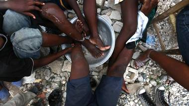 A shelter camp in Haiti after the devastating earthquake in 2010.