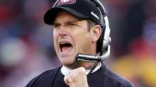 San Francisco 49ers head coach Jim Harbaugh has been named The Associated Press NFL coach of the year for 2011. REUTERS/Beck Diefenbach (Beck Diefenbach/Reuters)