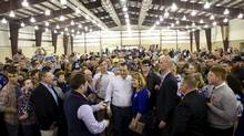 Republican U.S. presidential candidate Ted Cruz greets supporters after a campaign rally in Tulsa, Okla., on Sunday. (NICK OXFORD/REUTERS)