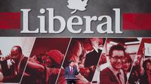 Federal Liberal leader Justin Trudeau makes his opening remarks at the party's Biennial convention Thursday, February 20, 2014 in Montreal. (THE CANADIAN PRESS/RYAN REMIORZ)
