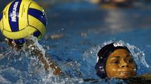 Canada's Krystina Alogbo is shown during the Pan American games gold medal water polo match at the Pan American Games in Rio de Janeiro, Friday, July 20, 2007. (Dario Lopez-Mills/Dario Lopez-Mills/AP)
