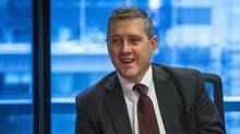 Federal Reserve Bank of St. Louis President James Bullard speaks about the U.S. economy during an interview in New York in this February 26, 2015 file photo. (LUCAS JACKSON/REUTERS)